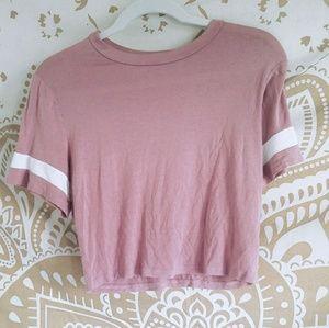 Pink cropped top teeshirt